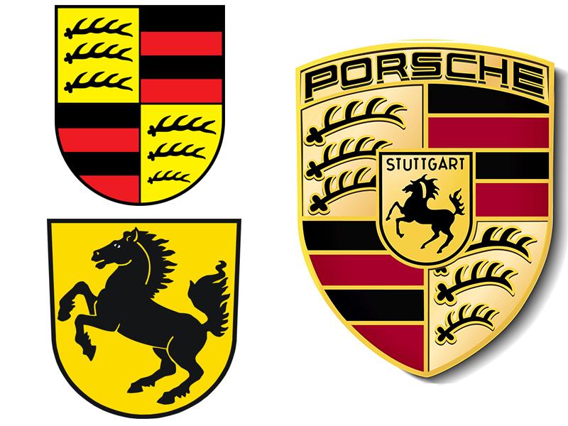 Auto sposi Napoli | Il logo della Porsche, casato di auto ideali per le nozze