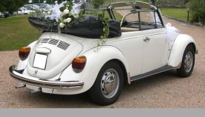 Auto Sposi Napoli | Il retro di un Maggiolone Cabrio ne fa apprezzare al meglio il fascino vintage