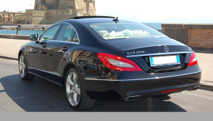 Auto Sposi Napoli   Mercedes CLS   Il retro di questa ammiraglia ne esalta lo stile impeccabile