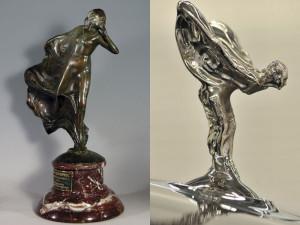 Auto Sposi Napoli, noleggio per cerimonie | Le statuette della storia della Rolls Royce, dalla sussurratrice allo spirito dell'estasi