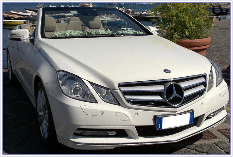Mercedes E Cabrio per le nozze - Auto Matrimonio Napoli