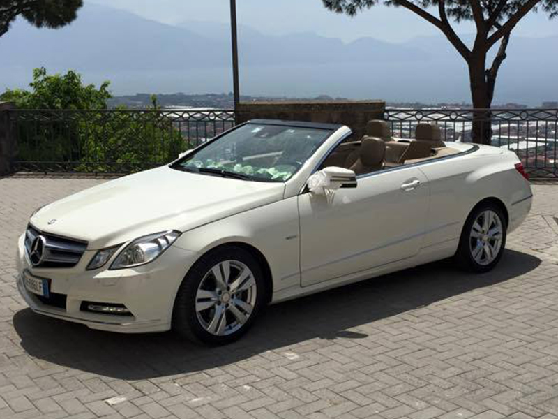 Auto sposi Napol | Mercedes per cerimonie e matrimoni | E Cabrio in noleggio