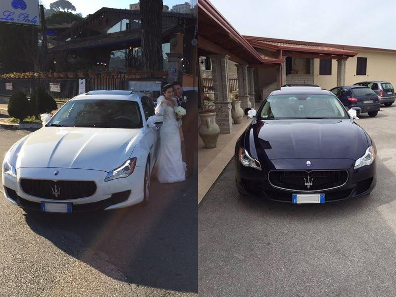 Auto sposi Napoli | Maserati QuattroPorte in noleggio per le nozze