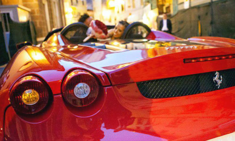 auto-sposi-Napoli_Ferrari-f430_noleggio-nozze