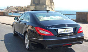 auto-sposi-Napoli_Mercedes-CLS_noleggio-nozze