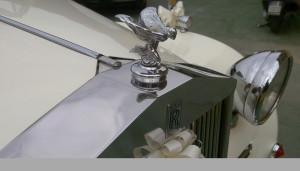 Auto Sposi Napoli | Rolls Royce Princess | La magnifica calandra anteriore della Rolls, addobbata per cerimonie